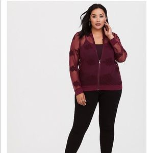 NWT Torrid EMBROIDERED BOMBER JACKET Plus Size 3x
